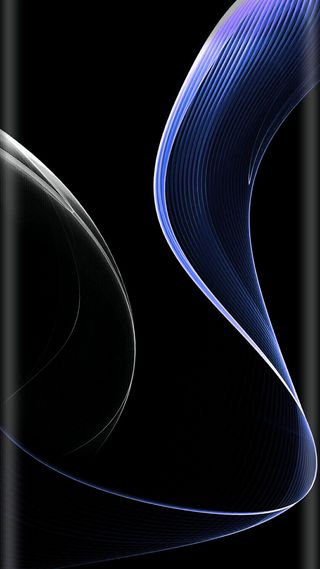 Обои на телефон волна, темные, синие, свет, линии, дизайн, грани, абстрактные