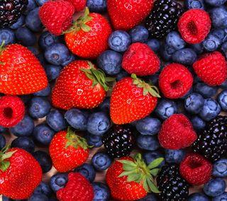 Обои на телефон ягоды, свежие, клубника, raspberry