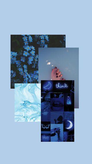 Обои на телефон эстетические, синие