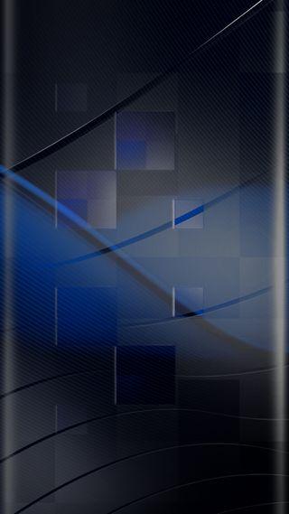 Обои на телефон квадраты, стиль, синие, красота, грани, абстрактные, s7, edge style