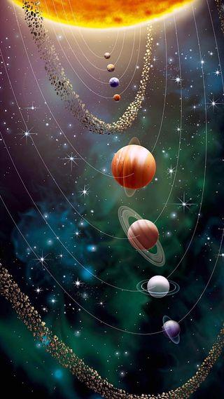 Обои на телефон солнечный, солнце, система, планеты, мир, земля