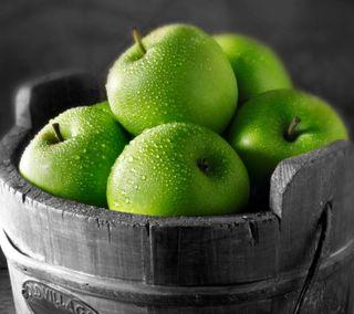 Обои на телефон фрукты, зеленые, hd, apples