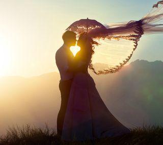 Обои на телефон естественные, любовь, закат, love at sunset, love