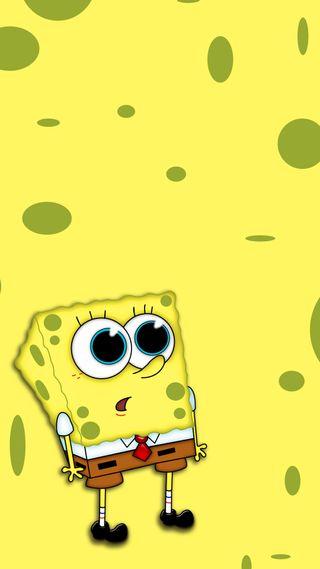 Обои на телефон мультфильмы, желтые, губка боб, spongebob wow