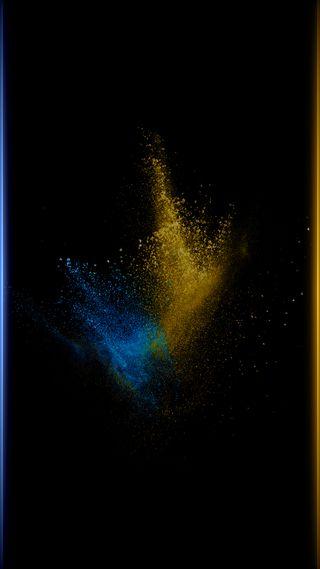 Обои на телефон черные, стиль, синие, красочные, золотые, грани, абстрактные, s7, edge style