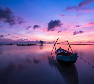 Обои на телефон море, закат, sunset sea