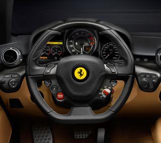 Обои на телефон ferrari, steering, крутые, новый, машины, автомобили, феррари, гоночные, интерьер