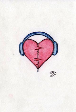 Обои на телефон рисунок, сердце, рисунки, музыка, любовь, love
