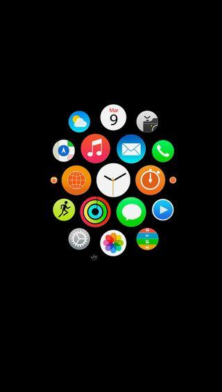 Обои на телефон часы, эпл, иконки, apple