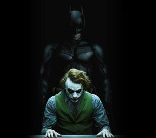 Обои на телефон фильм, темные, сцена, рыцарь, джокер, бэтмен, interrogation