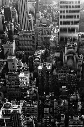 Обои на телефон нью йорк, горизонт, айфон, skyline, nyc iphone, b w
