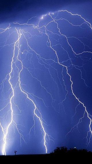 Обои на телефон шторм, фиолетовые, природа, молния, lightning storm