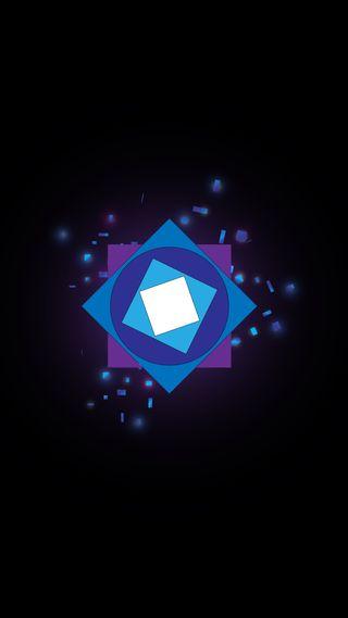 Обои на телефон геометрия, фиолетовые, современные, свет, квадратные, абстрактные, geometry light