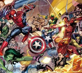 Обои на телефон паук, марвел, крутые, комиксы, гражданская, бой, америка, spider man, marvel civil battle, marvel
