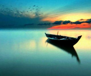 Обои на телефон лодки, закат, sunset boat hd