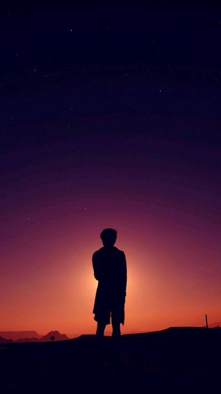 Обои на телефон черные, темные, одиночество, космос, alone in the dark