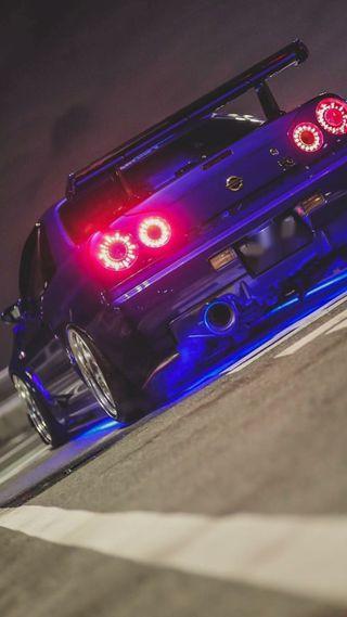 Обои на телефон японские, суперкары, спортивные, синие, ночь, ниссан, машины, классика, горизонт, r34 skyline gtr, nissan, gtr