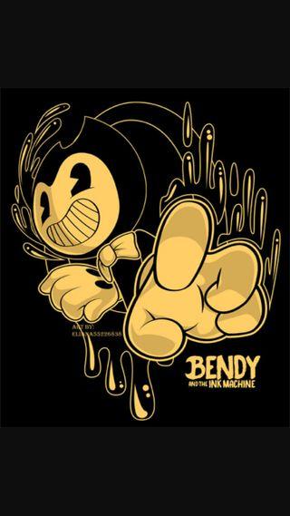 Обои на телефон чернила, машина, bendy and the ink machine, bendy