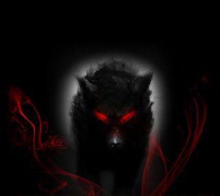 Обои на телефон темные, волк, dark wolf