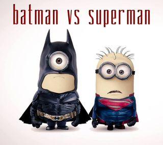 Обои на телефон против, супермен, миньоны, забавные, бэтмен