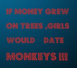 Обои на телефон обезьяны, забавные, деньги, девушки, дата, mgm