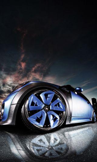 Обои на телефон металлические, синие, машины, крутые, schmidt