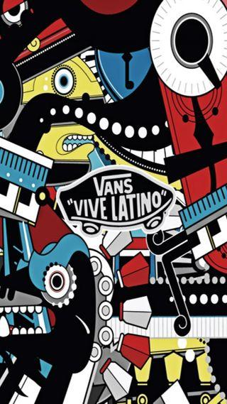 Обои на телефон vans vive latino, vans, latino