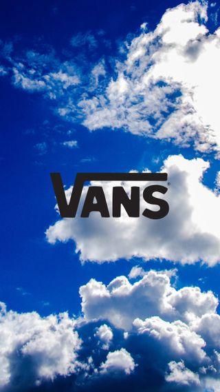 Обои на телефон яркие, синие, свет, облака, небо, логотипы, день, бренды, vans