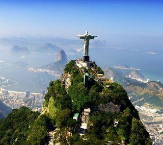 Обои на телефон бразилия, monument, corcovado