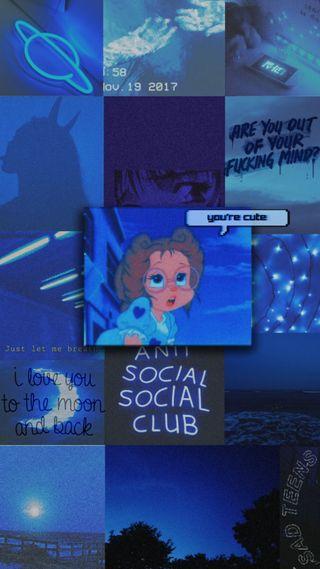 Обои на телефон настроение, эстетические, синие, ретро, мультфильмы, милые, винтаж, cute wallpapers, blue aesthetic, aesthetics