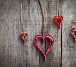 Обои на телефон бумага, фон, сердце, любовь, красые, дерево, валентинки, love