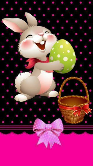 Обои на телефон дети, счастливые, пасхальные, кролик, весна, happy