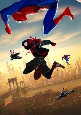 Обои на телефон фильмы, супер, паук, мстители, марвел, spider man, silverbull, marvel, into the spider verse, hd