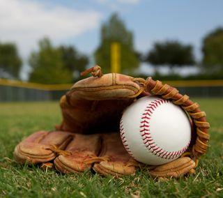 Обои на телефон спортивные, поле, мяч, бейсбол, mlb, glove, beisbol