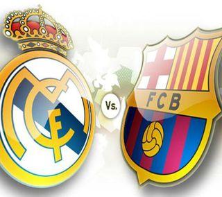 Обои на телефон спортивные, мадрид, реал, против, логотипы, real madrid vs bara