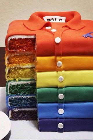 Обои на телефон торт, цветные, радуга, shirt
