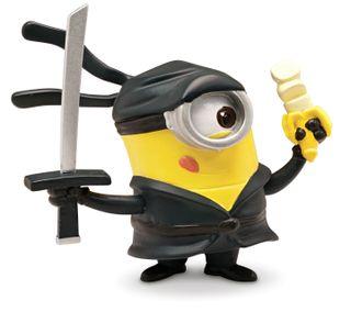 Обои на телефон экшен, приятные, новый, ниндзя, миньоны, милые, гадкий, ninja minion, hd, despicable 2, 2014