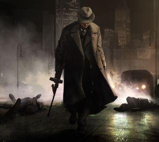 Обои на телефон оружие, мафия, man, godfather, corleone