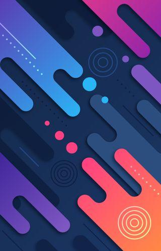 Обои на телефон современные, цветные, радуга, красочные