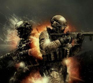 Обои на телефон солдат, призрак, огонь, армия, call of duty ghosts, call of duty