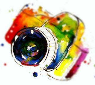 Обои на телефон картина, цветные, рисунки, красочные, камера, hd