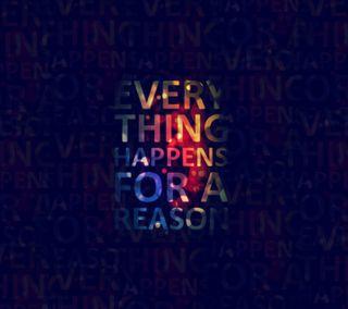 Обои на телефон цитата, причина, поговорка, красочные, happens, everything