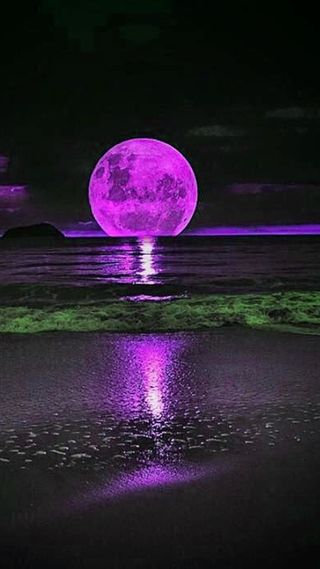 Обои на телефон фиолетовые, луна, purple full moon