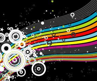 Обои на телефон цветные, радуга, круги, абстрактные