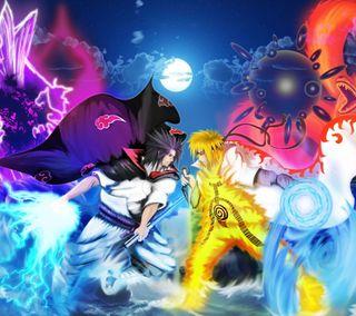 Обои на телефон узумаки, учиха, саске, против, наруто, аниме, sasuke vs naruto, naruto shippuuden