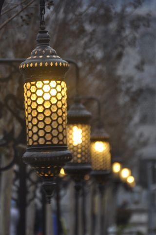 Обои на телефон стамбул, лампа, taksim
