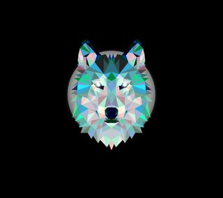 Обои на телефон бриллиант, черные, волк, diamond wolf