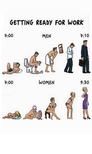Обои на телефон женщины, утро, работа, люди, ready