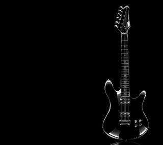 Обои на телефон электрические, черные, музыка, гитара, electric guitar