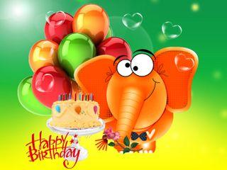 Обои на телефон шарики, слон, счастливые, happy, 640x480px